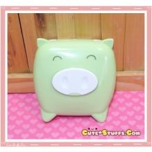 Kawaii Monokuro Boo Pig Contact Lens Case - Green