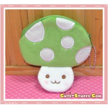 Kawaii Plush Mushroom Coin Purse! Green