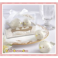 Kawaii Rare Mom & Baby Bird Salt & Pepper Matching Shakers!