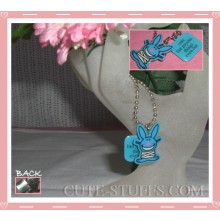 "Happy Bunny Necklace - ""Cute but psycho, things even out"""