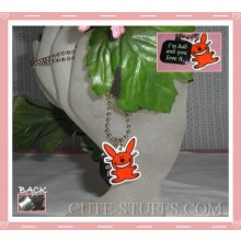"Happy Bunny Necklace - ""I'm bad and you love it"""
