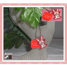 "Happy Bunny Necklace - ""Let's focus on me"""