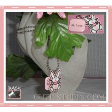 "Happy Bunny Necklace - ""Hi, loser"""