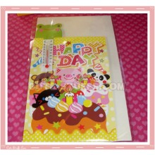 Kawaii Hapy Day Folding Card w/ Frog Thermometer