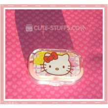 Kawaii Sparkle Travel Lens Case or Trinket Box! - Hello Kitty Face
