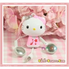 Rare Kawaii Hello Kitty Pink Retractable Headphones