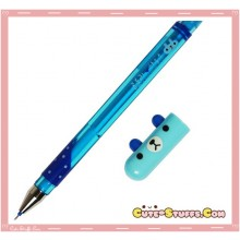 Kawaii Colorful Translucent Pill Bear Pen! Blue!