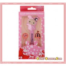 Kawaii San-X Shappo Sentimental Circus In-Ear Headset Headphones + Mic + Cord Winder Set!