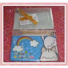 Kawaii Happy Go Lucky Luggage Tag and ID Holder w/ strap