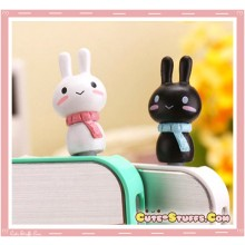 Kawaii Rare Bunny w/ Scarf Series Dust Plug Set!