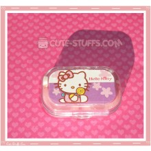 Kawaii Sparkle Travel Lens Case or Trinket Box! - Hello Kitty Lollipop Purple