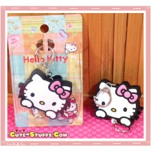 Hello Kitty Retractable Key and ID Holder Charm