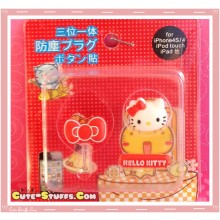 Kawaii Ipod Iphone Ipad Dust Plug Set Data Hello Kitty Bow