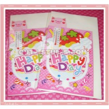 Kawaii Hapy Day Folding Card w/ Pig Thermometer