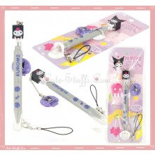 Kawaii Kuromi Multi Purpose Stylus Pen + Screen Cleaner w/ Strap!