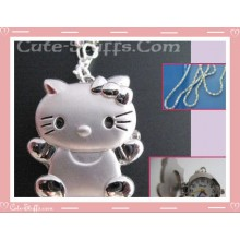Kawaii Hello Kitty Chrome Pendant Watch Necklace