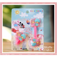 Kawaii Rare 2 PC Cord Holder Little Twin Stars