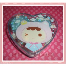 Kawaii Heart Shaped Travel Lens Case or Trinket Box! - Blue