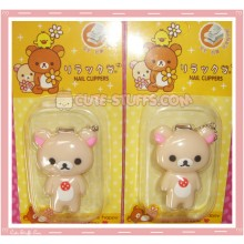 Cute Korilakkuma Nail Clippers w/ Pink Flower