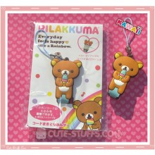 Kawaii San-x Cord Winder w/ Button Strap! Rilakkuma Ice Cream