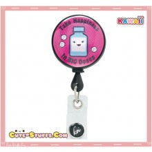 Kawaii Rare Koi Pill Retractable ID Badge Reel! Happiness in Big doses!