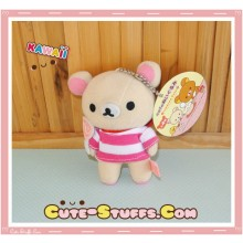 Large Korilakkuma Cafe Series Plush Pink Lollipop Keychain