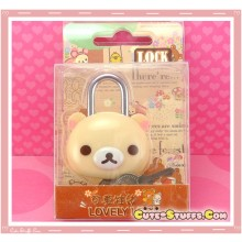 Kawaii Rare Discontinued Medium Lock & Keys - Korilakkuma!