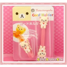 Kawaii Rare 2 PC Cord Holder Korilakkuma Button Clip