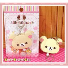 Korilakkuma Retractable Key and ID Holder Charm