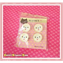 Kawaii Rilakkuma Korilakkuma 4 pc Pin Badge Set