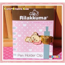 Kawaii San-X Korilakkuma Gold Plated Pen Holder Clip