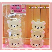 Kawaii 3PC Mini Stackable Korilakkuma Pill or Trinket Box