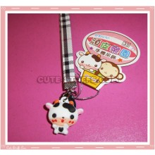 Kawaii Unique Cow Phone Strap w/ Wrist Strap!