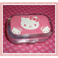 Kawaii Travel Lens Case or Trinket Box! - Hello Kitty Faces Pink