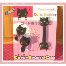 Kawaii San-x 2 PC Cord Holder Kutsushita Cat