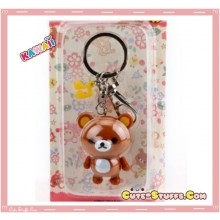 Kawaii Large Rilakkuma Key chain or Backpack & Purse Dangle Charm