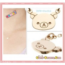 Kawaii Rilakkuma Double Clasp Necklace! Rare!