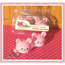 Kawaii Animal Series 1 Capsule Contact Lense Case! - Pink Bunny