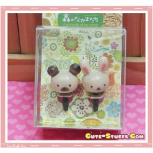 Kawaii 3.5mm Wood Koala & Bunny Dust Plug Set Duo