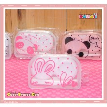 Kawaii Translucent Travel Lens Case or Trinket Box! - Love Rabbit Clear
