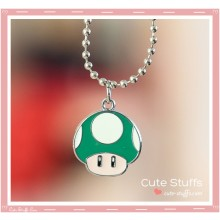 Super Mario Bros Necklace featuring 1uP Mushroom!