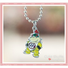Super Mario Bros Necklace featuring Baby Bowser!