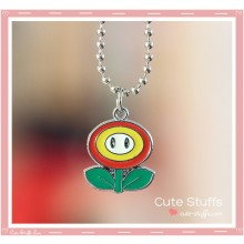 Super Mario Bros Necklace featuring Fire Flower!
