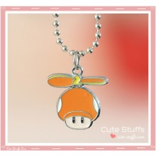 Super Mario Bros Necklace featuring Propeller Mushroom!