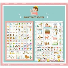 Kawaii 7 Sheet Diary & Planner Transparent Deco Sticker Set! Rare!