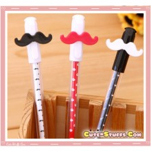 Kawaii Mustache Pen! U Choose Color!