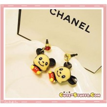 Kawaii Enamel Mickey or Minnie Mouse Studded Charm Plug! U Choose!