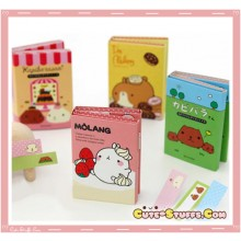 Kawaii Rare Kapibarasan or Molang Memo Post It Notes or Bookmark Tabs Set!