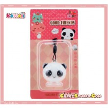 Kawaii Rare Good Friends Panda Phone Stand Dust Plug Charm Duo