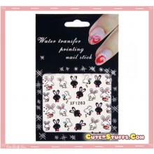 Rare Kawaii Nail Stickers! Love Rabbit!!